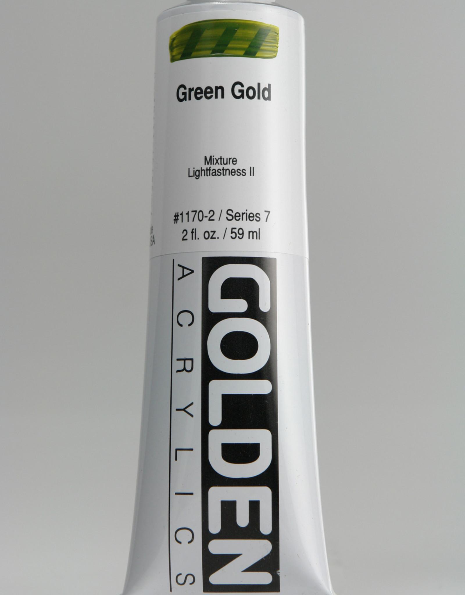 Golden, Heavy Body Acrylic Paint, Green Gold, Series 7, Tube, 2fl.oz.