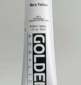 Golden, Heavy Body Acrylic Paint, Mars Yellow, Series 1, Tube, 2fl.oz.