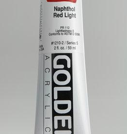 Golden, Heavy Body Acrylic Paint, Napthol Red Light, Series 5, Tube, 2fl.oz.