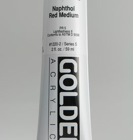 Golden, Heavy Body Acrylic Paint, Napthol Red Medium, Series 5, Tube, 2fl.oz.