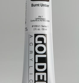 Golden, Heavy Body Acrylic Paint, Burnt Umber, Series 1, Tube, 2fl.oz.