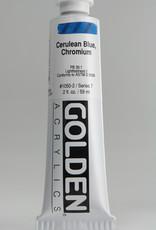 Golden, Heavy Body Acrylic Paint, Cerulean Blue Chromium, Series 7, Tube, 2fl.oz.