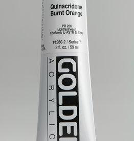 Golden, Heavy Body Acrylic Paint, Quinacridone Burnt Orange, Series 7, Tube, 2fl.oz.