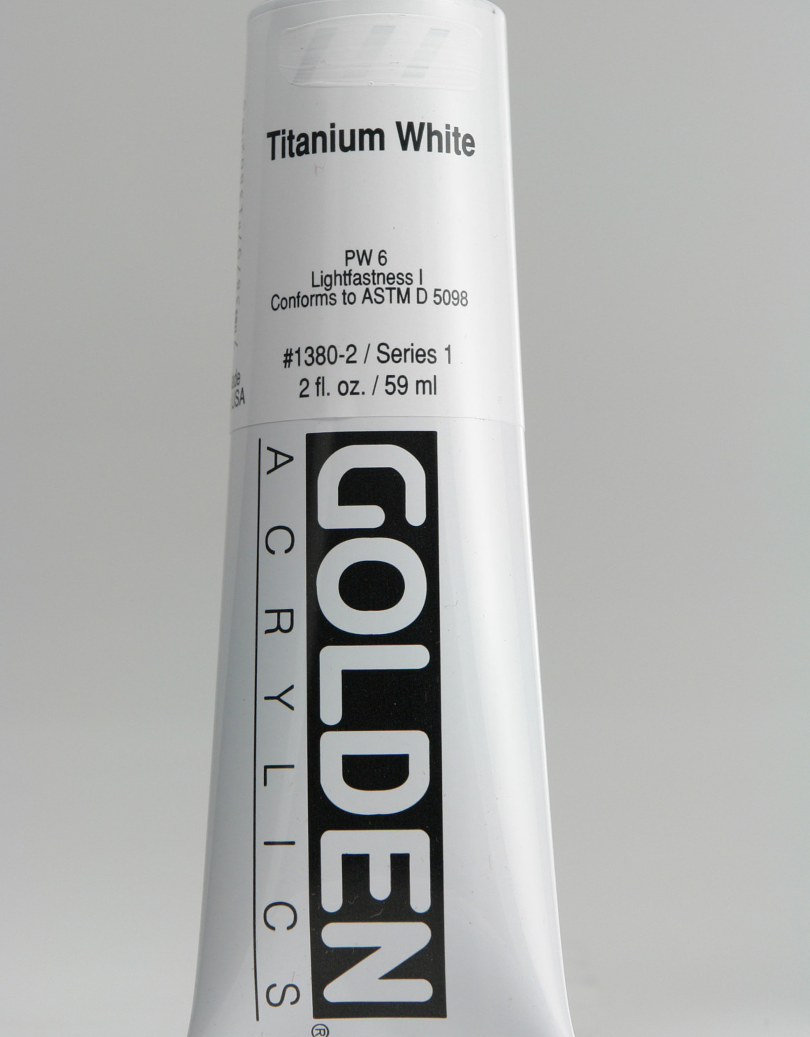 Golden, Heavy Body Acrylic Paint, Titanium White, Series 1, Tube, 2fl.oz.