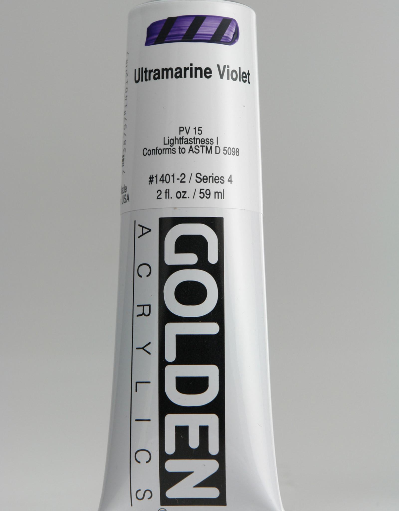 Golden, Heavy Body Acrylic Paint, Ultramarine Violet, Series 4, Tube, 2fl.oz.