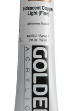 Golden, Heavy Body Acrylic Paint, Iridescent Copper Light, Series 7, Tube, 2fl.oz.