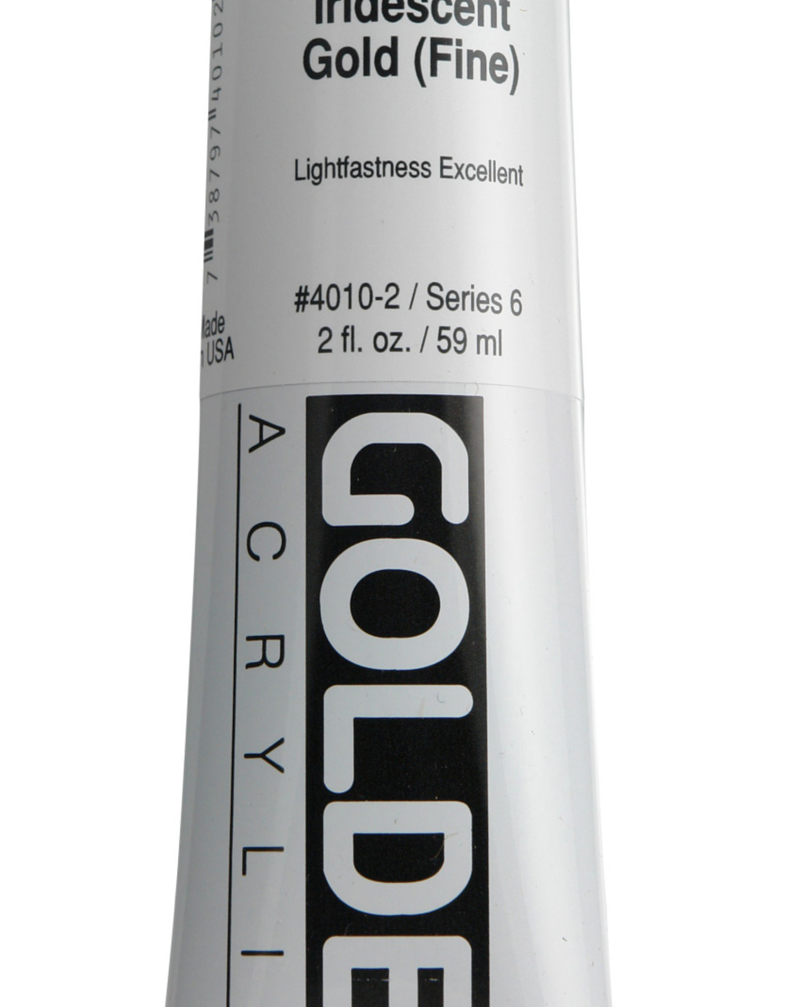 Golden, Heavy Body Acrylic Paint, Iridescent Gold Fine, Series 6, Tube, 2fl.oz.