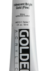Golden, Heavy Body Acrylic Paint, Iridescent Bright Gold Fine, Series 7, Tube, 2fl.oz.