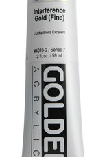 Golden, Heavy Body Acrylic Paint, Interference Gold, Series 7, Tube, 2fl.oz.