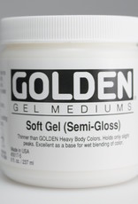 Golden, Soft Gel Medium, Semi-Gloss, 8oz