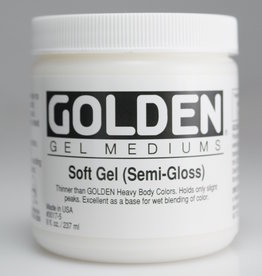 Golden, Soft Gel Medium, Semi-Gloss, 8oz