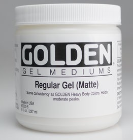 Golden, Regular Gel Medium, Matte, 8oz Jar
