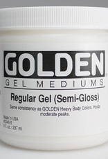 Golden, Regular Gel Medium, Semi-Gloss, 8oz Jar