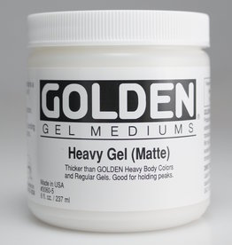 Golden, Heavy Gel Medium, Matte, 8oz Jar