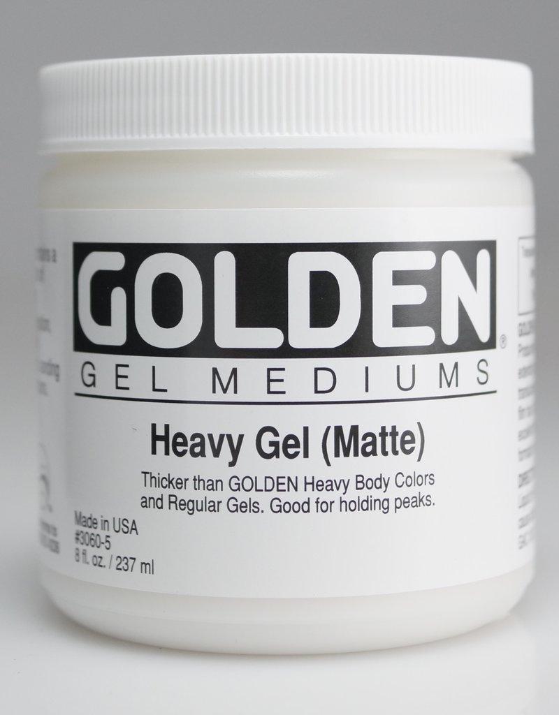 Golden, Heavy Gel Medium, Matte, 8oz Jar