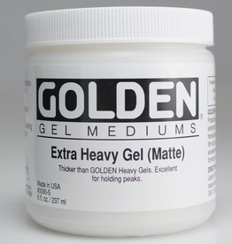 Golden, Extra Heavy Gel Medium, Matte, 8oz Jar