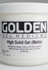Golden, High Solid Gel Medium, Matte, 8 oz Jar