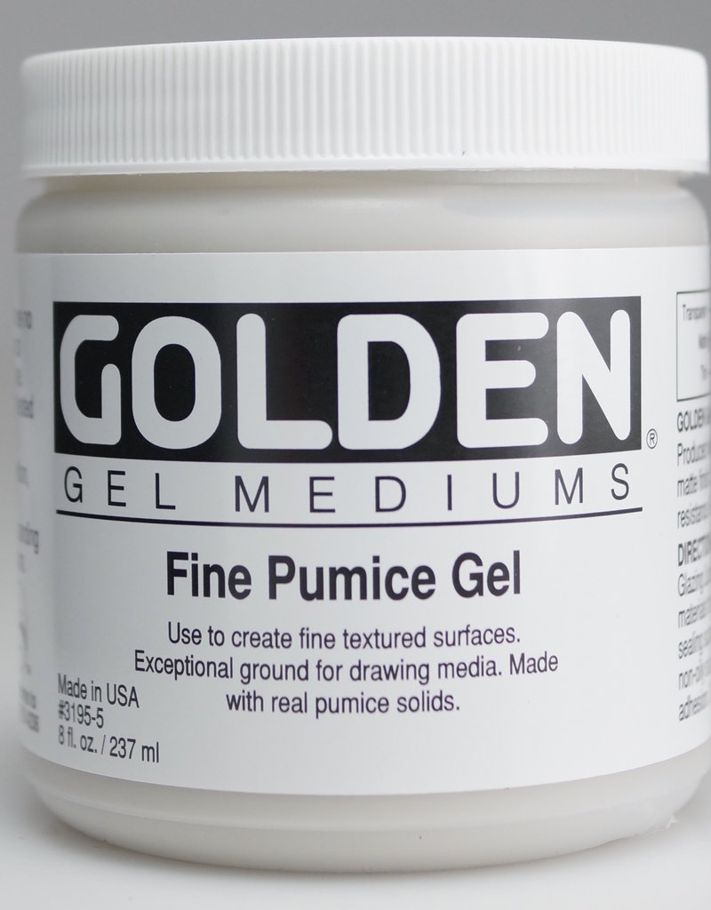 Golden, Fine Pumice Gel, Medium, 8 oz