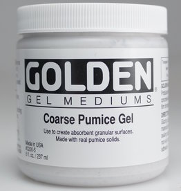 Golden, Coarse Pumice Gel, Medium, 8 oz