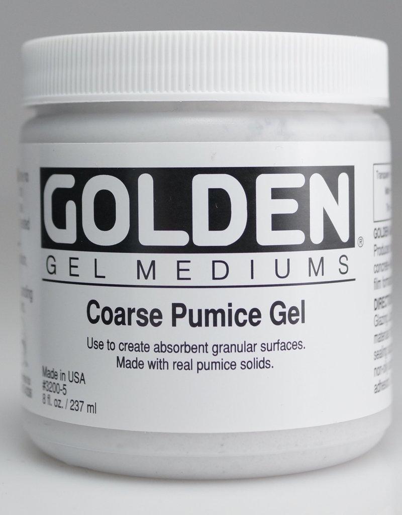 Golden, Coarse Pumice Gel, Medium, 8 oz