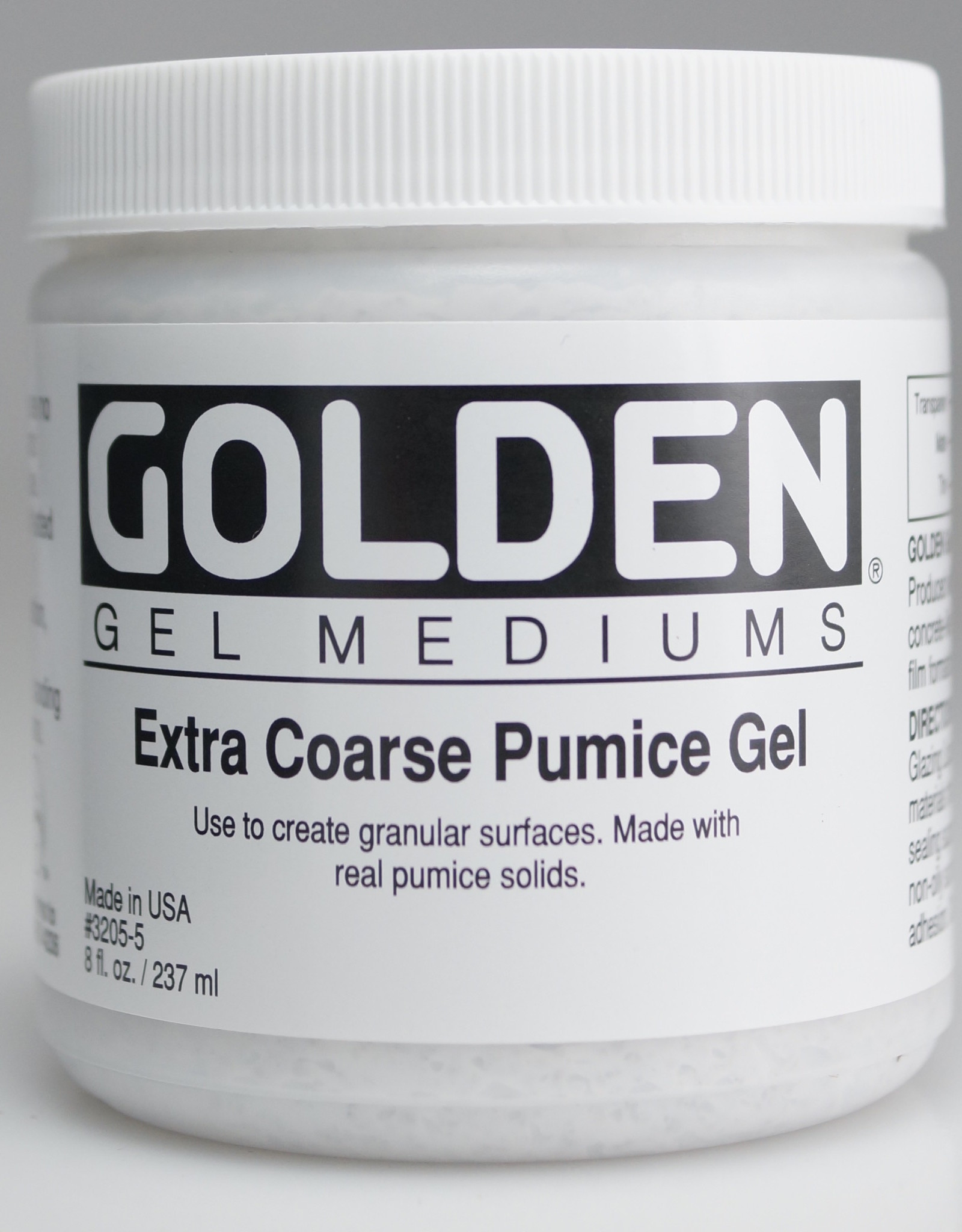 Golden, Extra Coarse Pumice Gel, Medium, 8 oz