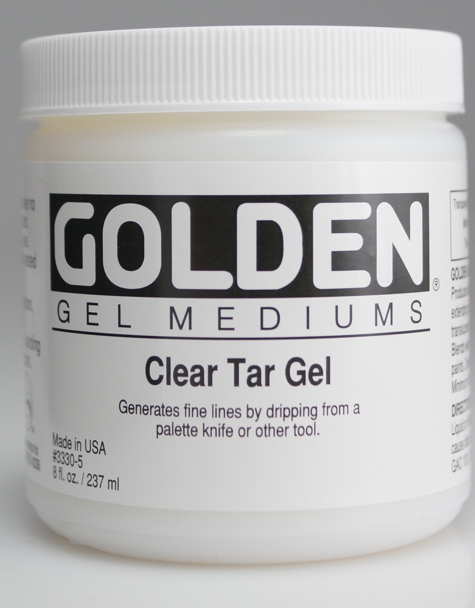 Golden, Clear Tar Gel, Medium  8 oz Jar