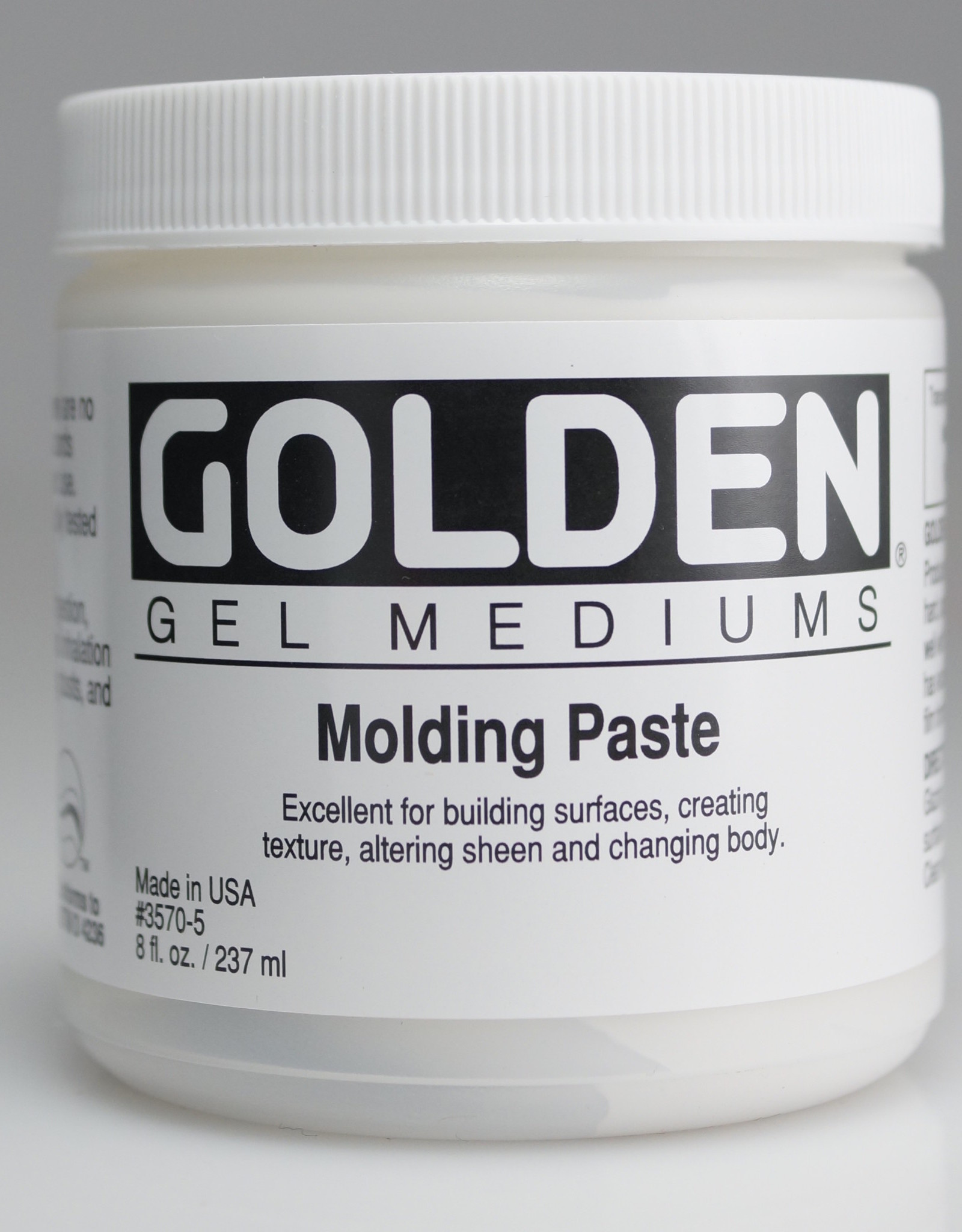 Golden, Molding Paste, Medium, 8 oz Jar