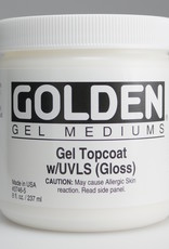 Golden, Medium, Gel Topcoat w/ UVLS, Gloss,  8 Fl Oz.