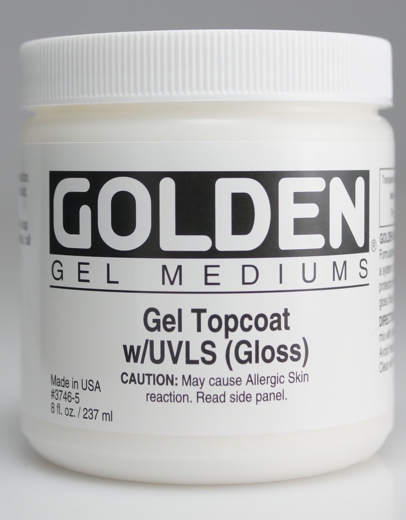 Golden, Medium, Gel Topcoat w/ UVLS, Gloss,  8 Fl Oz.