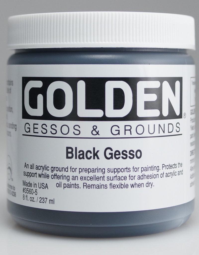 Golden, Black Gesso Ground, 8 Fl Oz. Jar