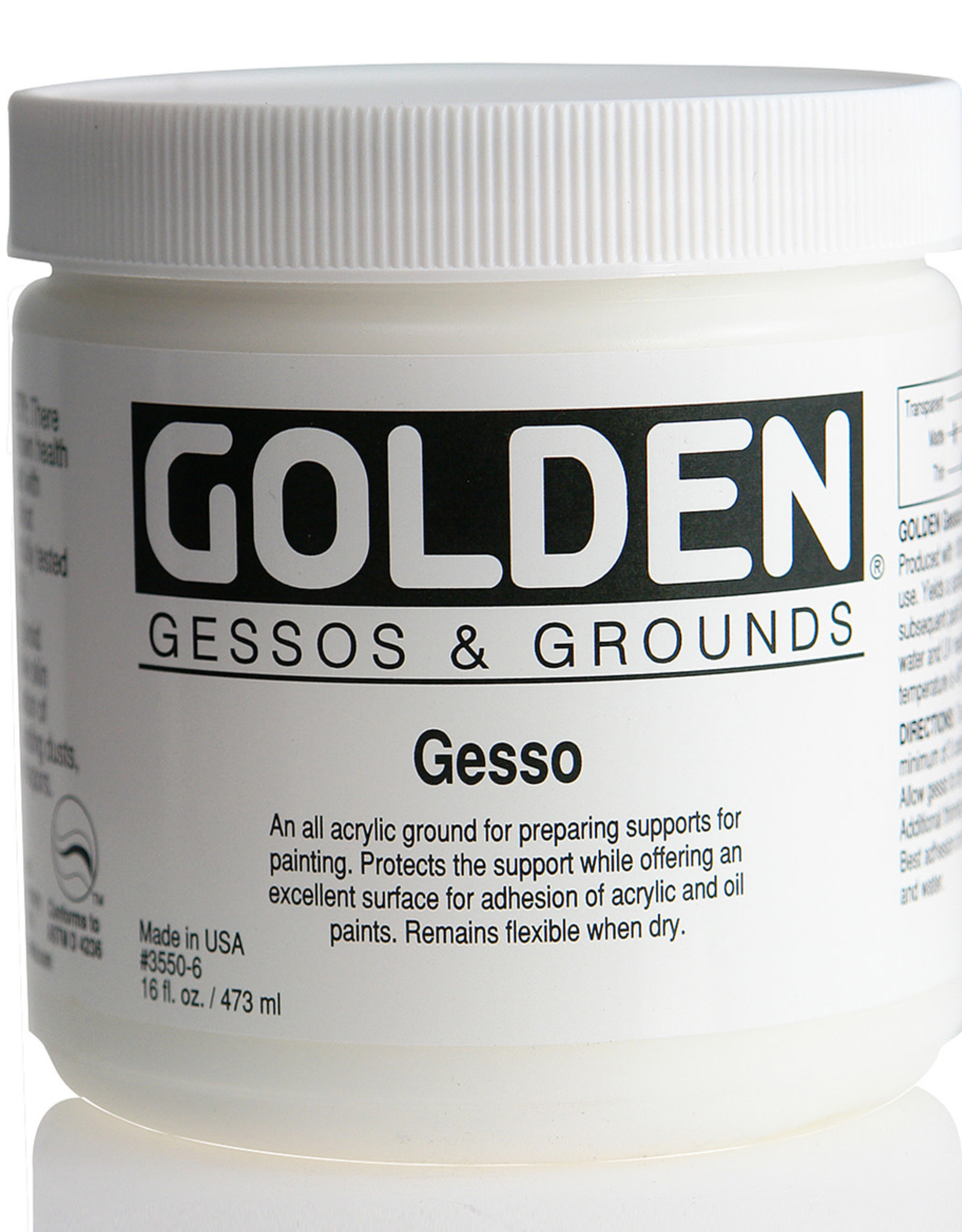 Golden, Gesso Ground, 16 Fl Oz. Jar