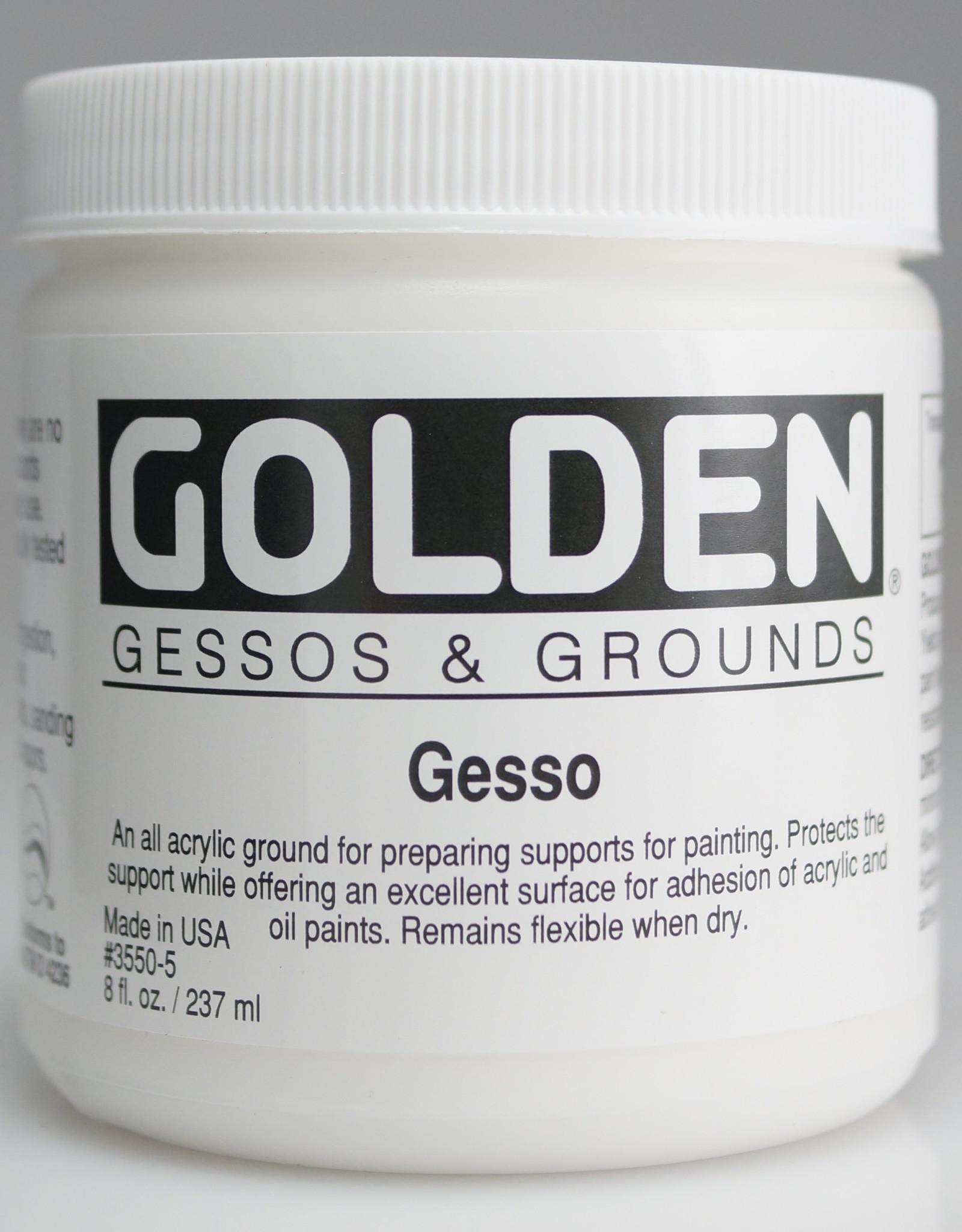 Golden, White Gesso Ground, 8 Fl Oz. Jar