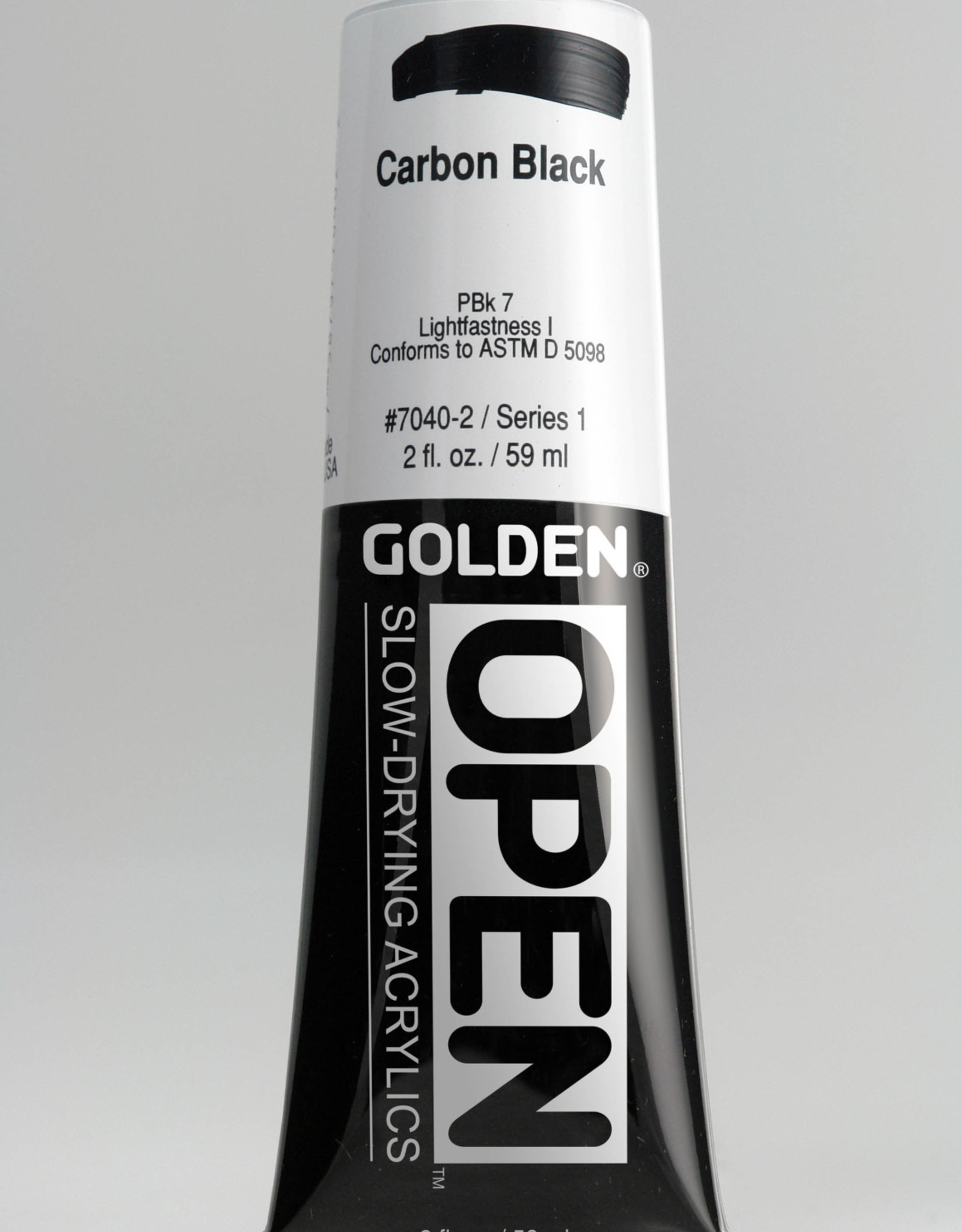 Golden OPEN, Acrylic Paint, Carbon Black, Series 1, Tube (2fl.oz.)