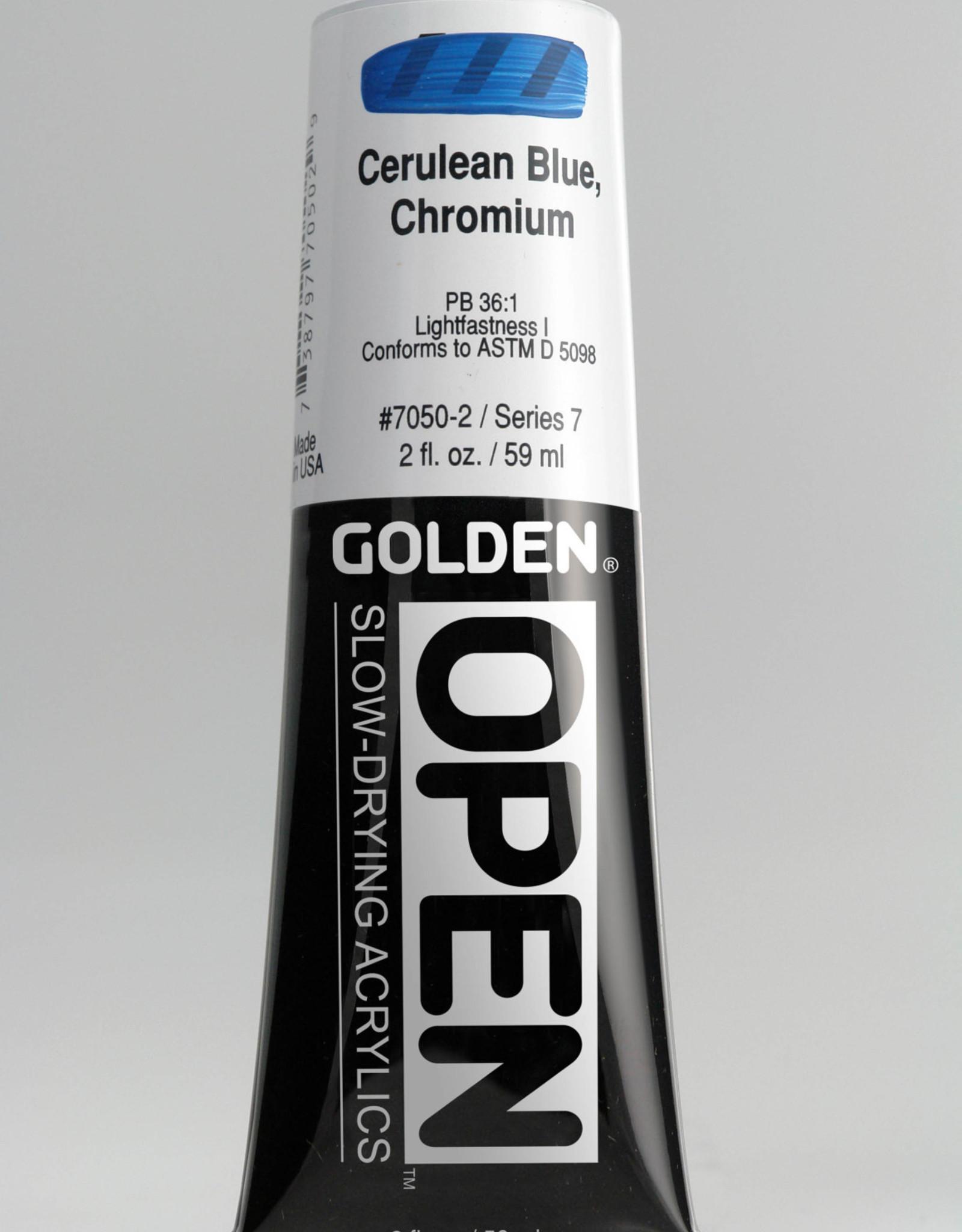 Golden OPEN, Acrylic Paint, Cerulean Blue Chromium, Series 7, Tube (2fl.oz.)