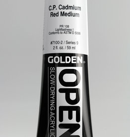 Golden OPEN, Acrylic Paint, C.P, Cadmium Red Medium, Series 9, Tube (2fl.oz.)