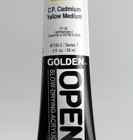 Golden OPEN, Acrylic Paint, C.P. Cadmium Yellow Medium, Series 7, Tube (2fl.oz.)