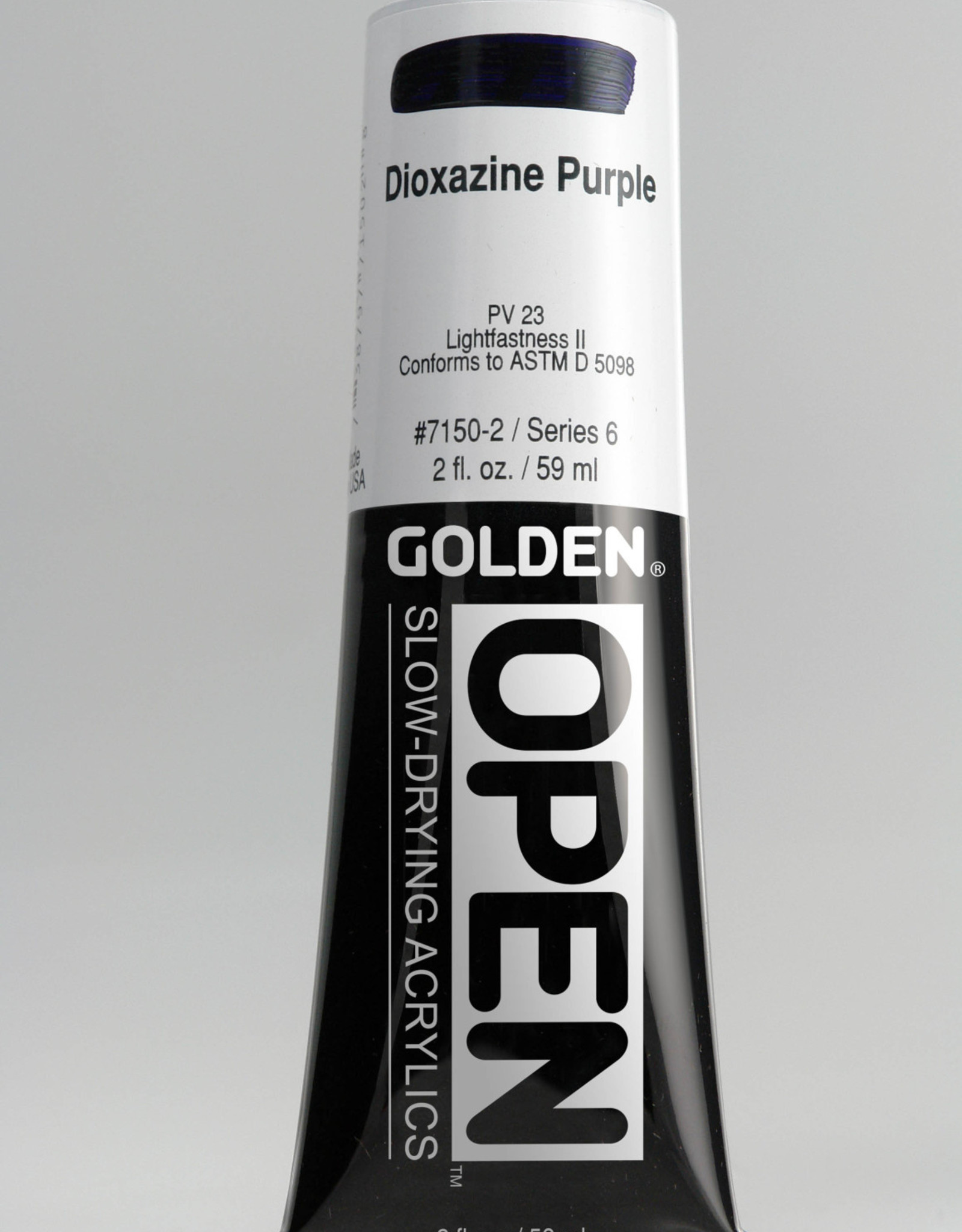 Golden OPEN, Acrylic Paint, Dioxazine Purple, Series 6, Tube (2fl.oz.)