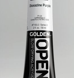 Golden OPEN, Acrylic Paint, Dioxazine Purple, Series 6, Tube (2fl.oz.)