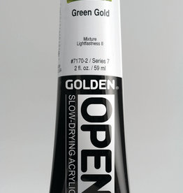 Golden OPEN, Acrylic Paint, Green Gold, Series 7, Tube (2fl.oz.)