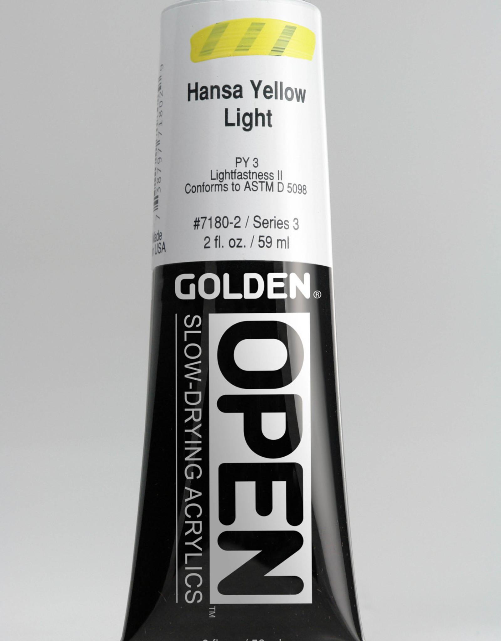 Golden OPEN, Acrylic Paint, Hansa Yellow Light, Series 3, Tube (2fl.oz.)