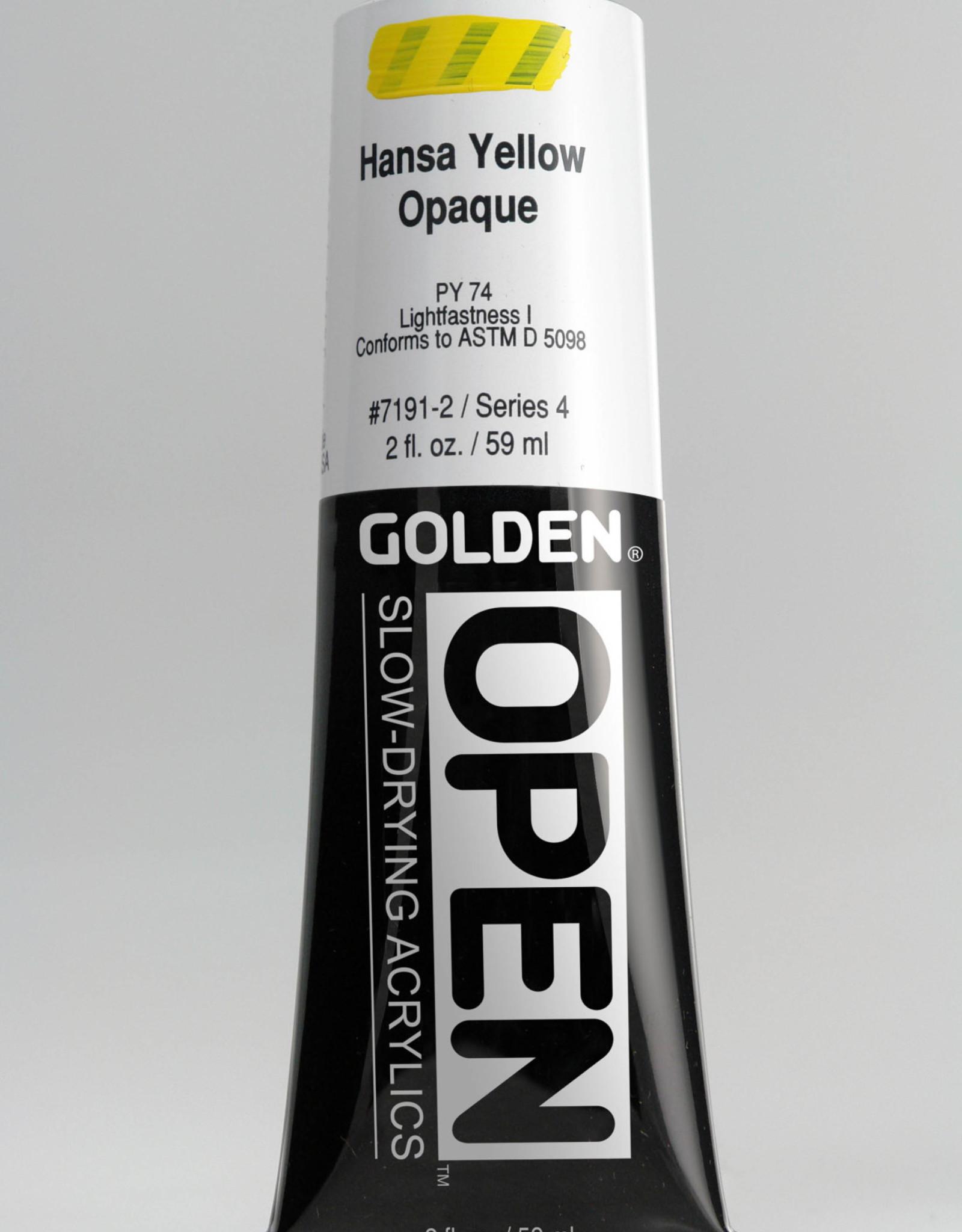 Golden OPEN, Acrylic Paint, Hansa Yellow Opaque, Series 4, Tube (2fl.oz.)