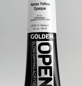 Golden OPEN, Acrylic Paint, Hansa Yellow Opaque, Series 4, Tube (2fl.oz.)