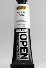 Golden OPEN, Acrylic Paint, Nickel Azo Yellow, Series 6, Tube (2fl.oz.)