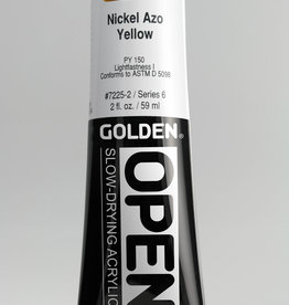 Golden OPEN, Acrylic Paint, Nickel Azo Yellow, Series 6, Tube (2fl.oz.)