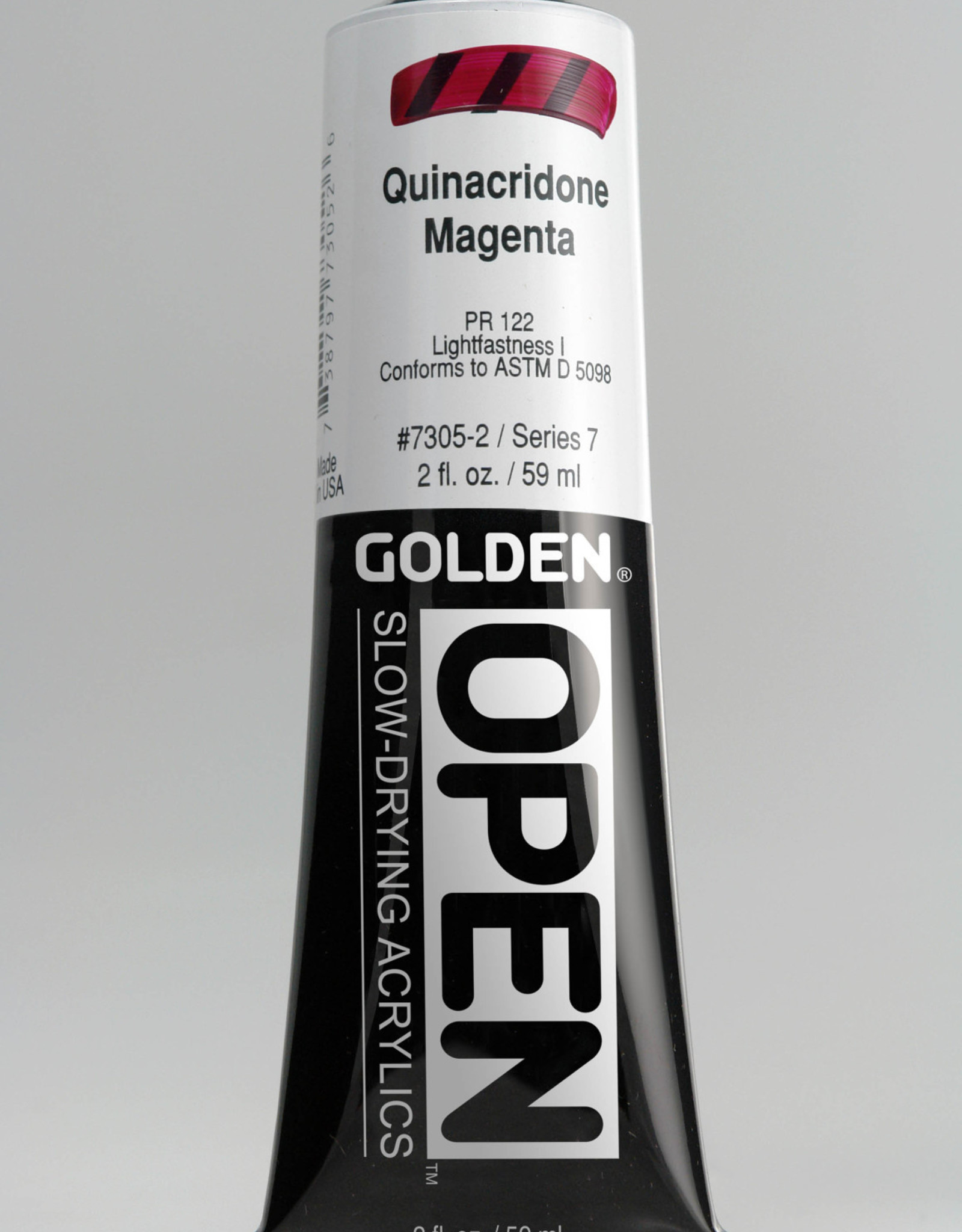 Golden OPEN, Acrylic Paint, Quinacridone Magenta, Series 7, Tube (2fl.oz.)
