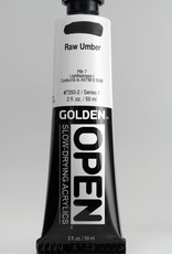 Golden OPEN, Acrylic Paint, Raw Umber, Series 1, Tube (2fl.oz.)