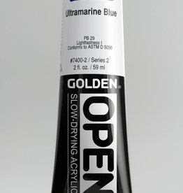 Golden OPEN, Acrylic Paint, Ultramarine Blue, Series 2, Tube (2fl.oz.)