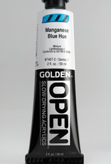 Golden OPEN, Acrylic Paint, Manganese Blue Hue, Series 2, Tube (2fl.oz.)