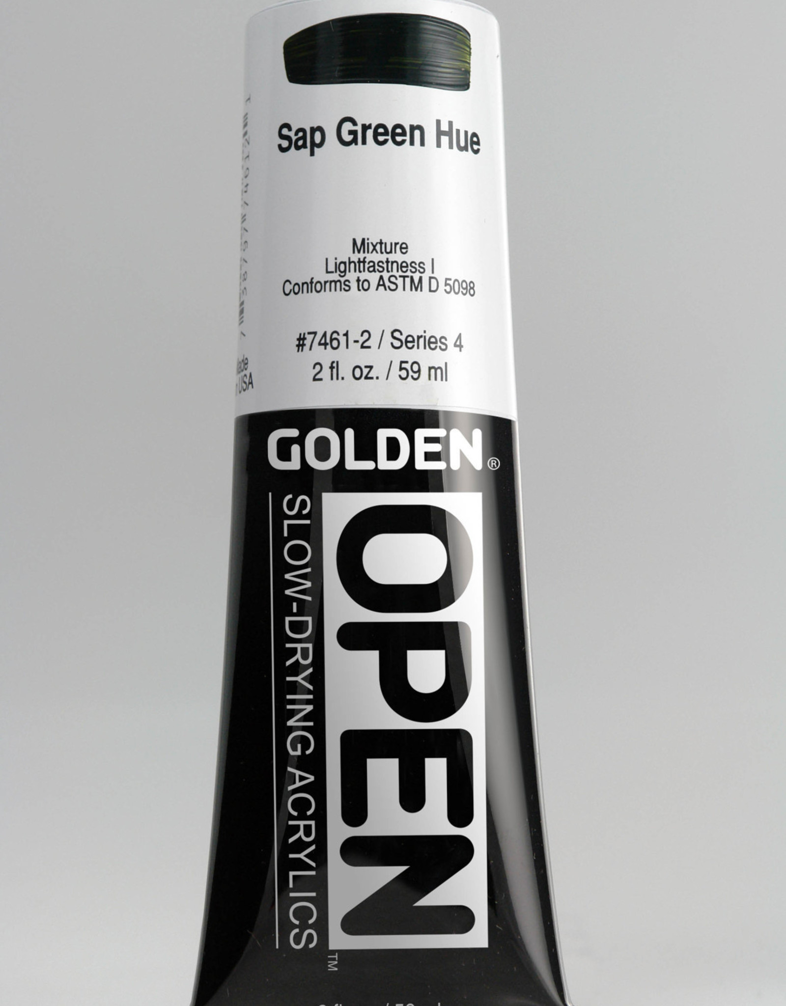 Golden OPEN, Acrylic Paint, Sap Green Hue, Series 4, Tube (2fl.oz.)
