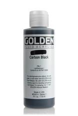 Golden Fluid Acrylic Paint, Carbon Black, Series 1, 4fl.oz, Bottle